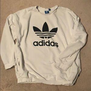 White adidas crew neck sweatshirt
